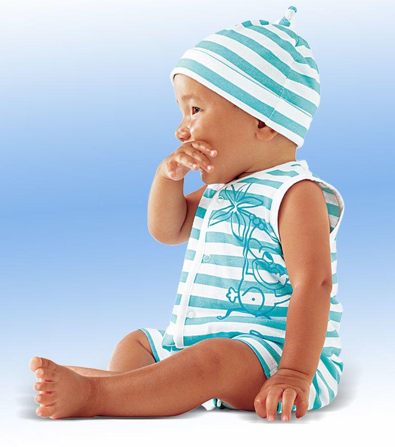 Body bebé sin mangas con gorrito 100% algodón