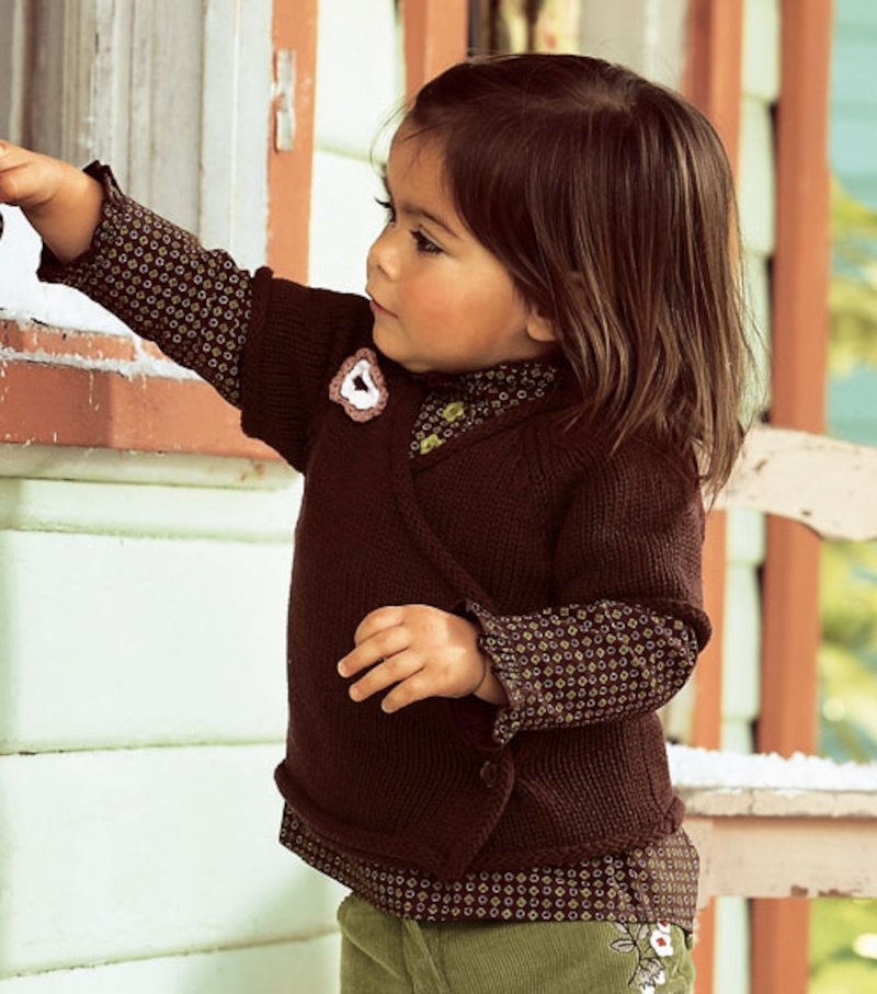 Chaqueta tricot de niña