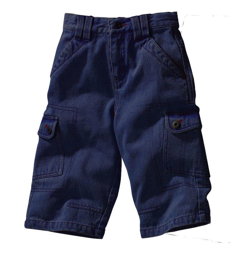 Pantalón bermuda vaquero niño 100% algodón