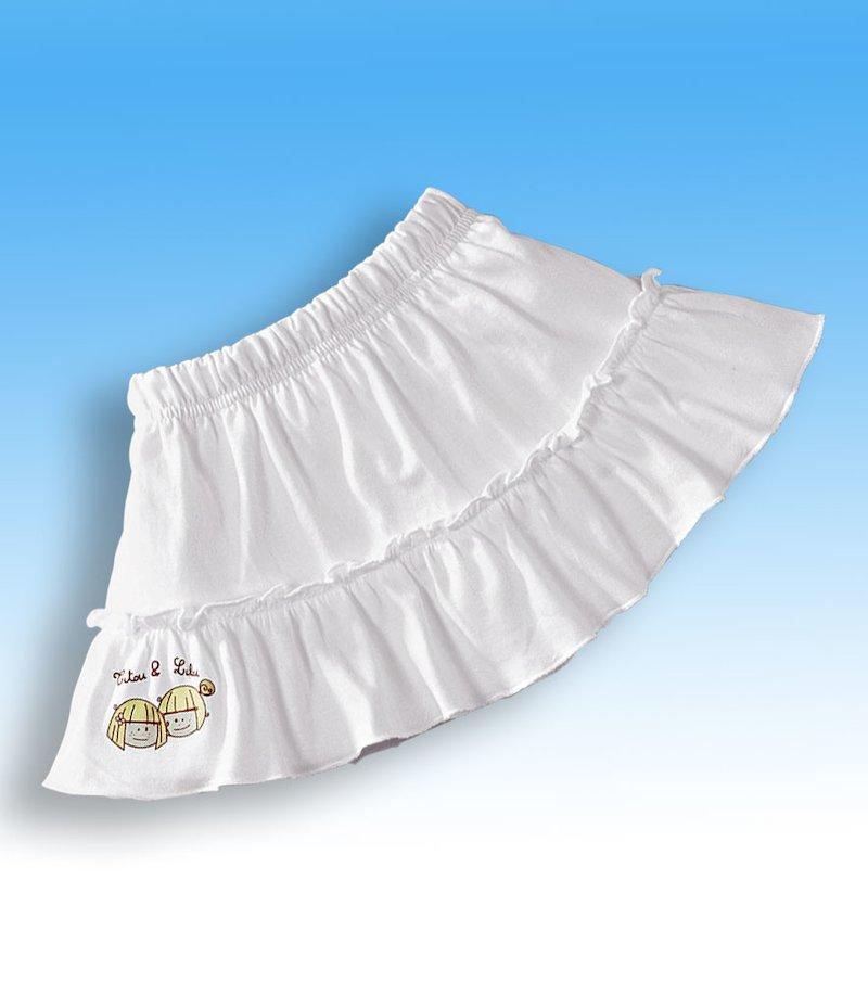 Falda niña con volante 100% algodón