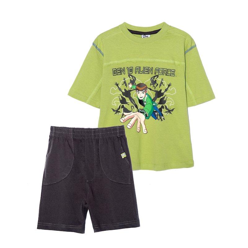 Conjunto 2 piezas niño Ben 10 camiseta y bermuda