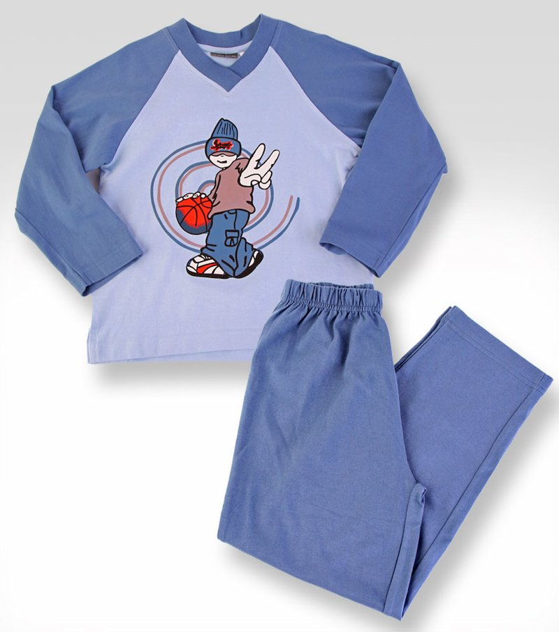 Pijama niño 3 piezas: camiseta + pantalón + bolsa