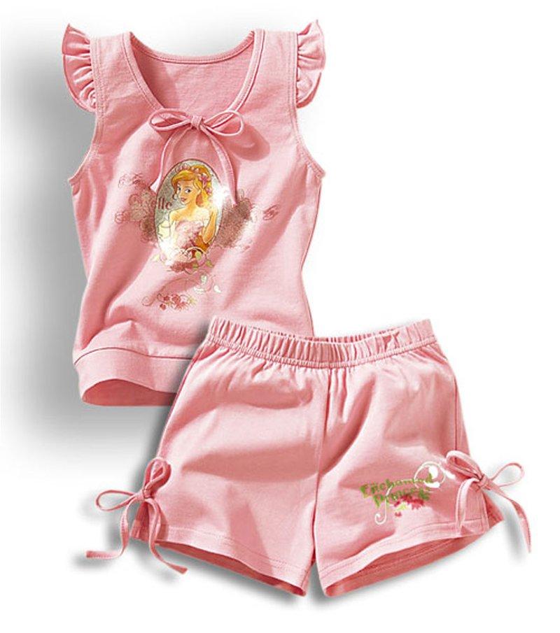 Pijama niña camiseta y pantalón corto