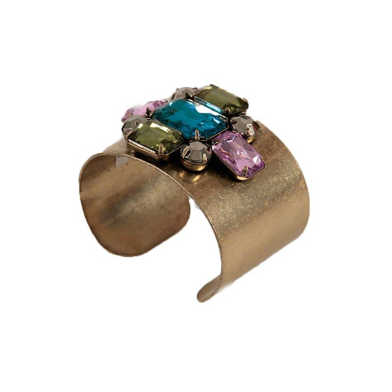 Pulsera mujer brazalete con piedras