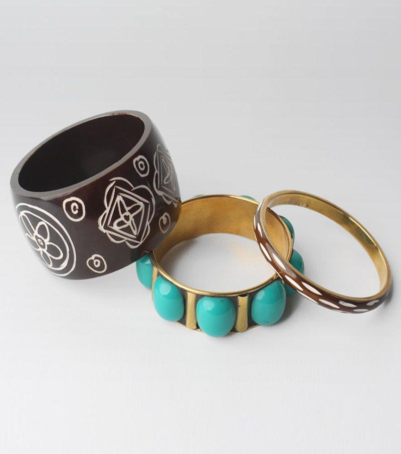 Lote de 3 pulseras mujer resina