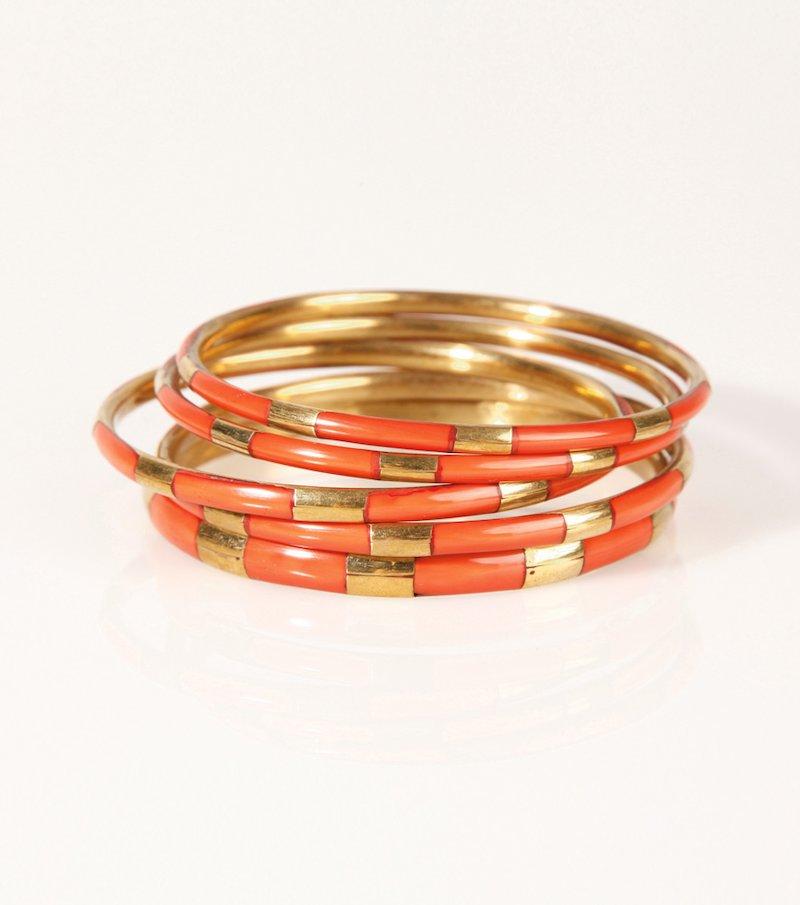 Lote 5 pulseras mujer metal esmaltadas