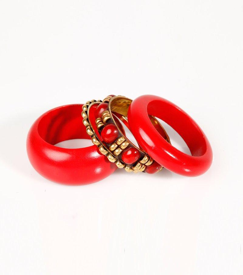 Set de pulseras mujer con detalles dorados