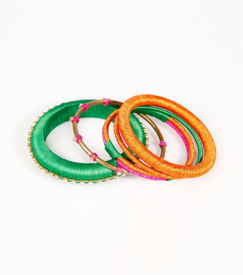 Set 4 pulseras mujer diseños surtidos