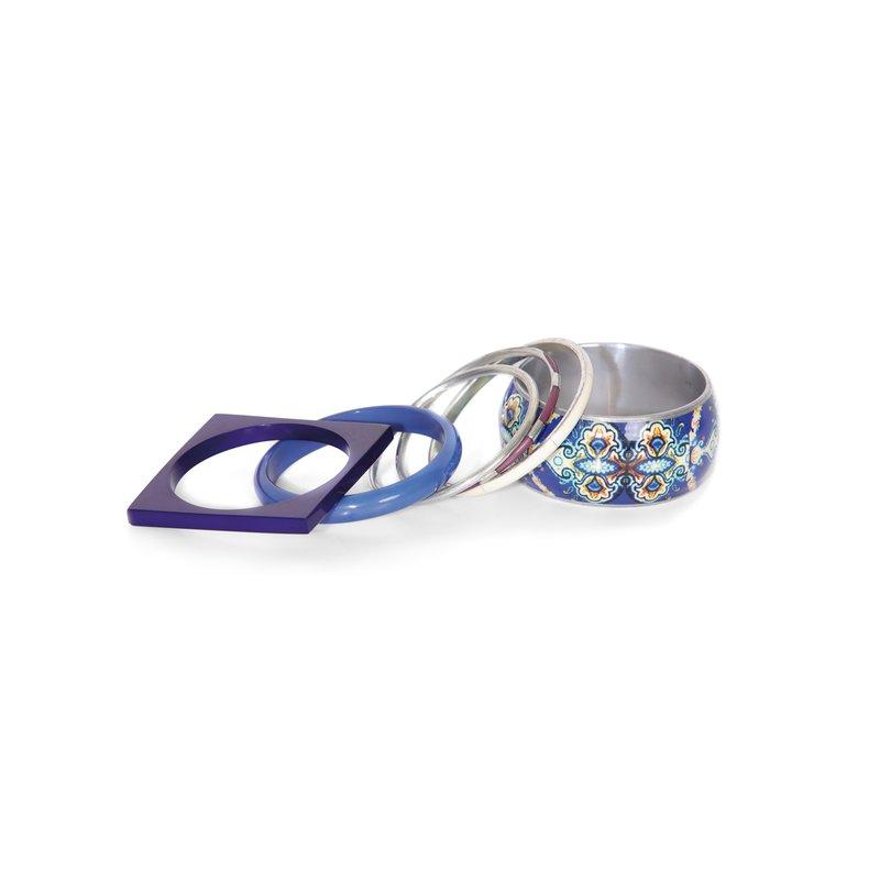 Lote 6 pulseras rígidas con diferentes diseños