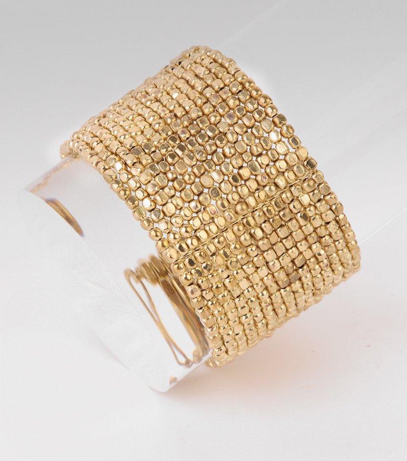 Brazalete pulsera mujer metálica - Metal