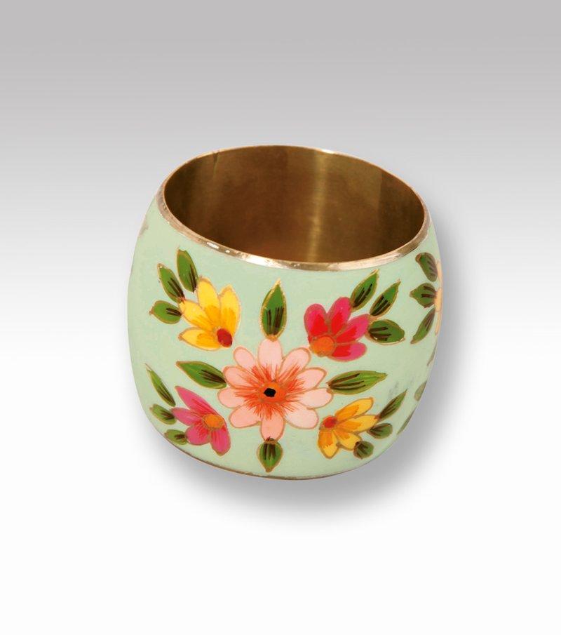Pulsera ancha brazalete mujer con flores