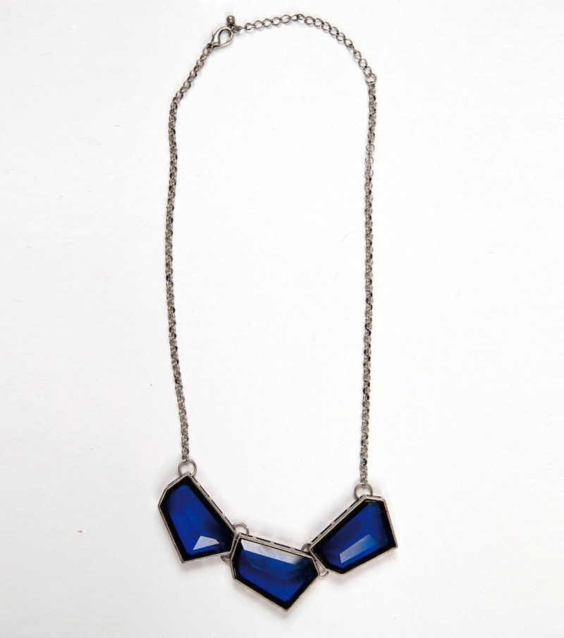 Collar gargantilla mujer piedras azules