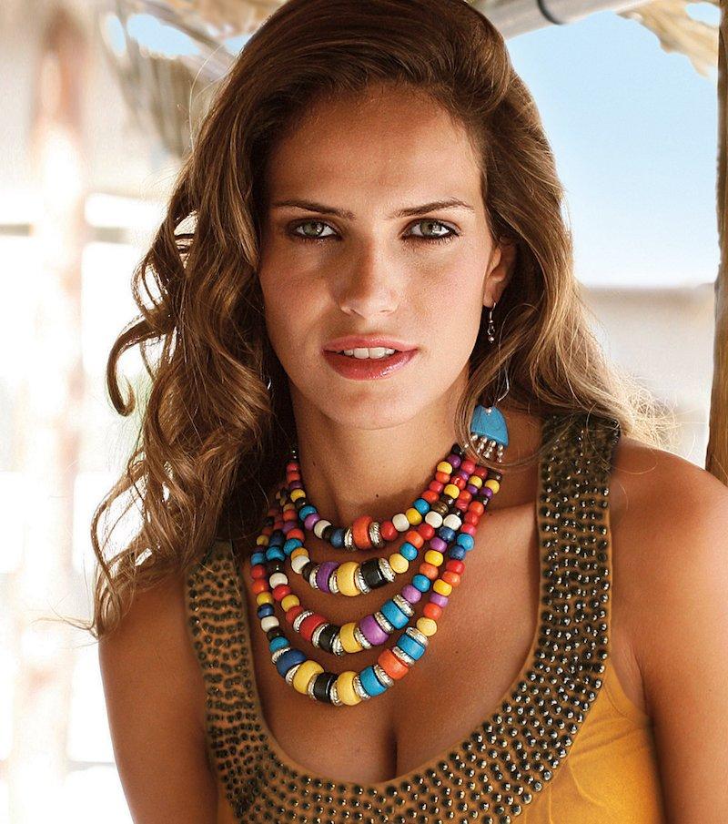 Collar mujer multicolor de bolas
