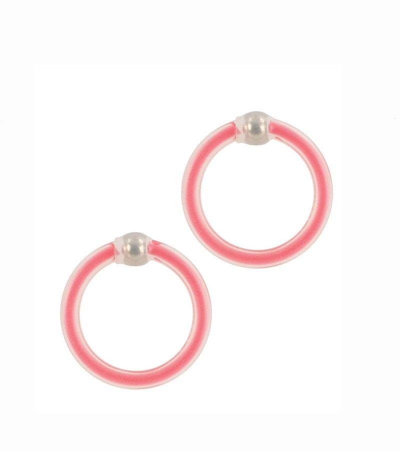 Lote de 2 anillos de silicona con perlas
