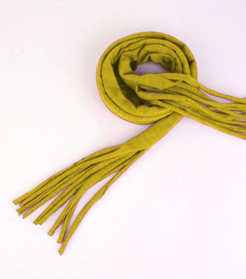 Bufanda mujer punto 100% algodón con flecos