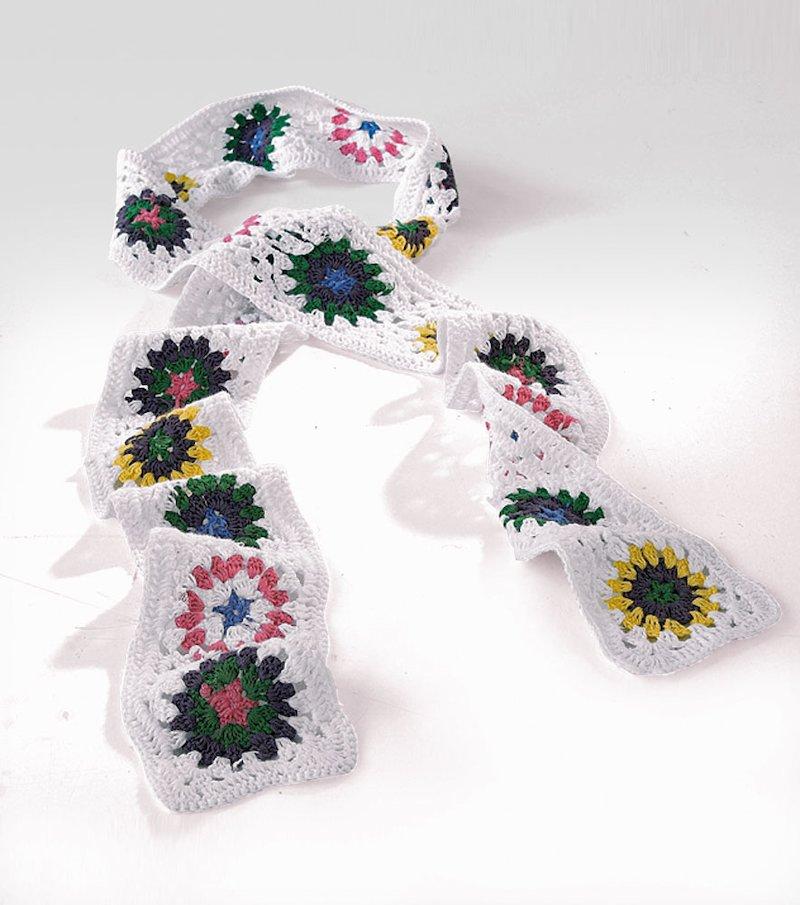 Bufanda larga mujer de ganchillo 100% algodón