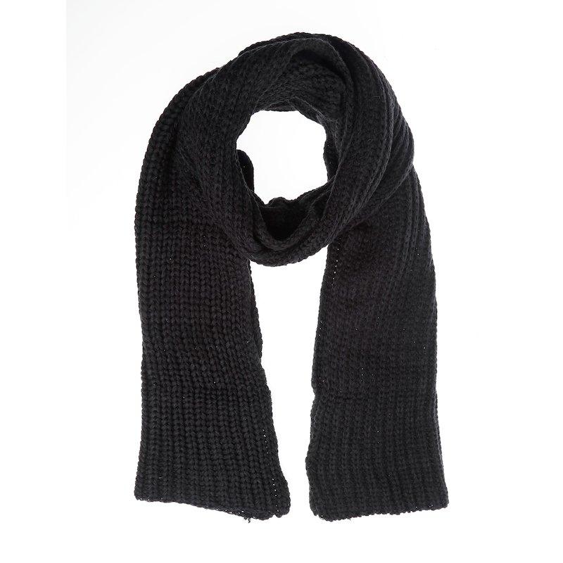 Bufanda extra larga mujer en grueso punto tricot