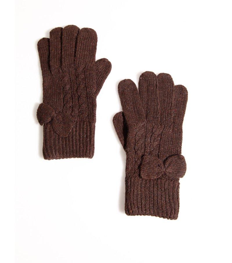 Guantes mujer tricot con lazo