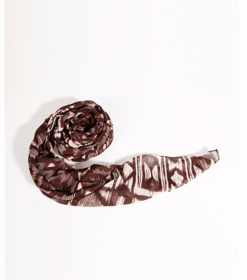 Fular pañuelo mujer con estampado de diseño étnico