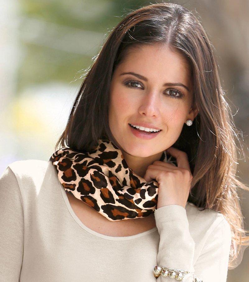 Foulard mujer estampado leopardo