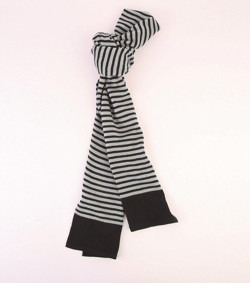 Bufanda mujer rayas punto tricot