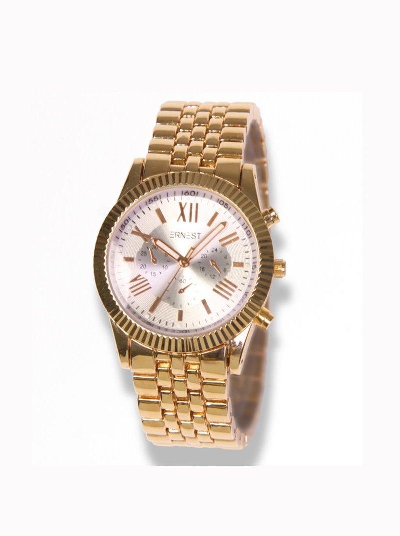 Reloj analógico de mujer con correa metálica