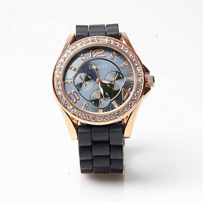 Reloj analógico mujer con correa caucho