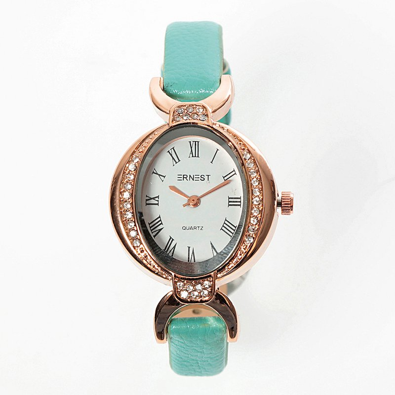 Reloj de pulsera mujer con esfera de pedrería