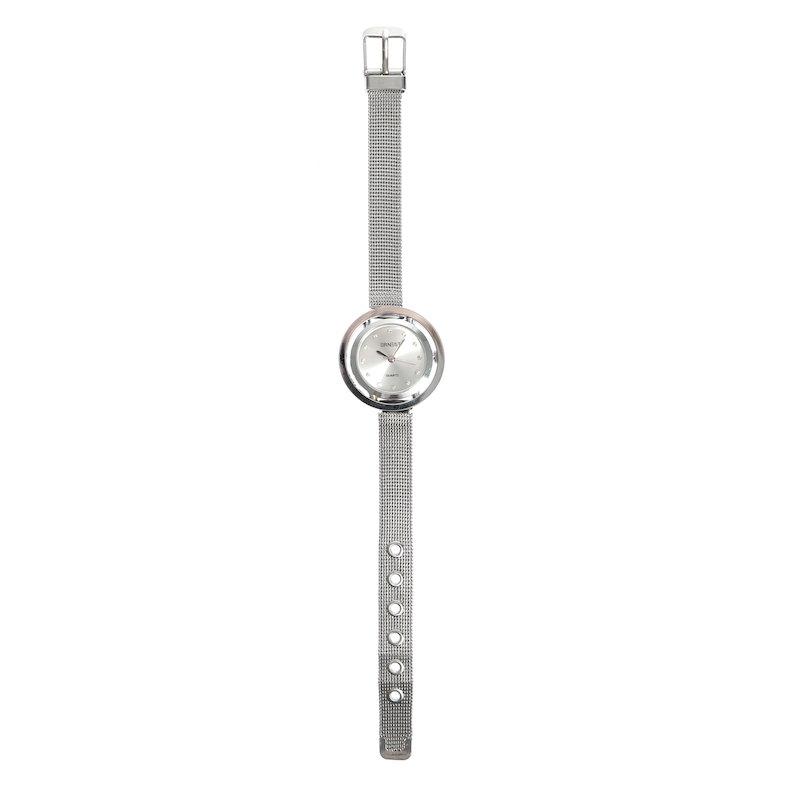 Reloj de pulsera correa metálica con strass
