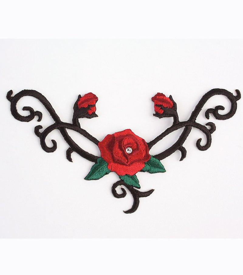 Transferible trío de rosas