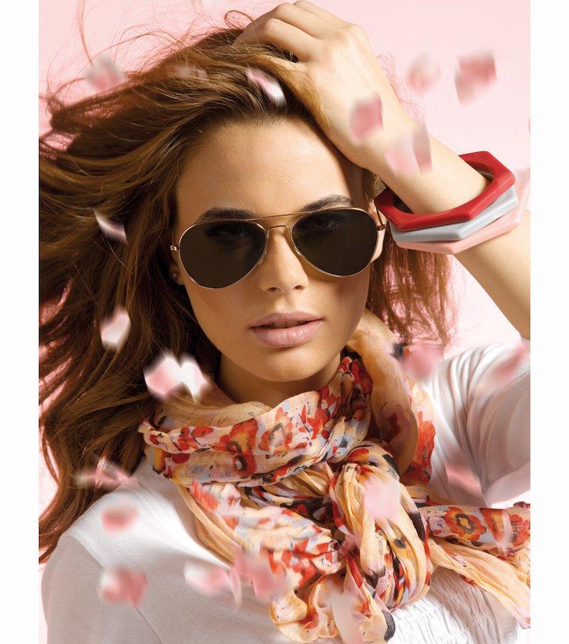 Conjunto 3 piezas: foulard, 3 pulseras y gafas