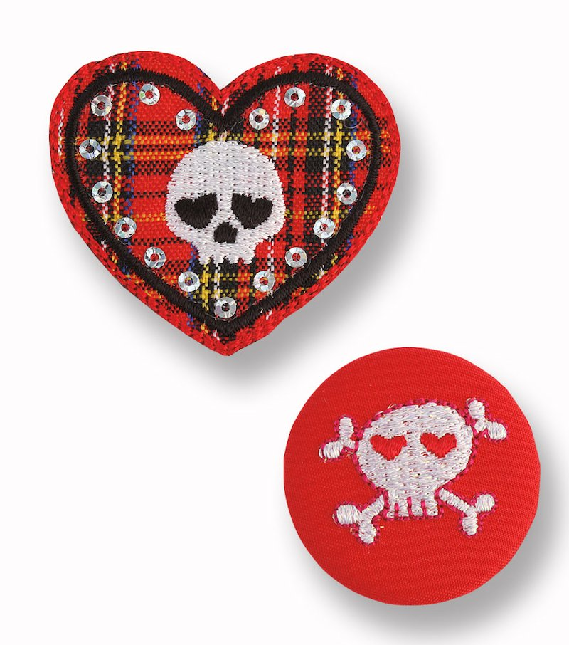 Lote pin + transferible calavera