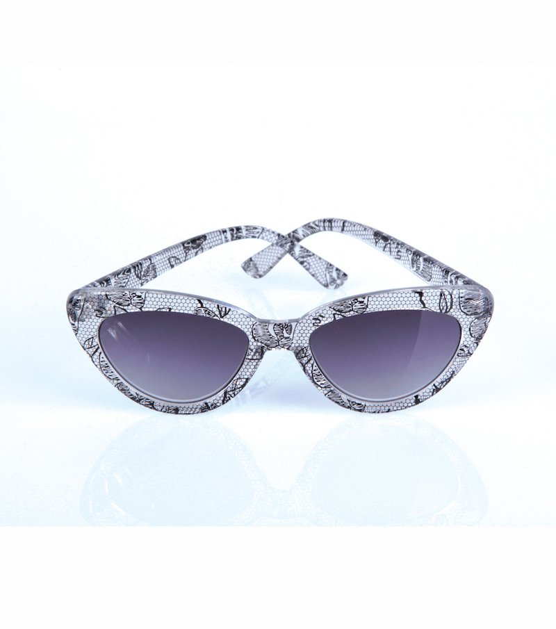 Gafas de sol mujer estampado puntilla