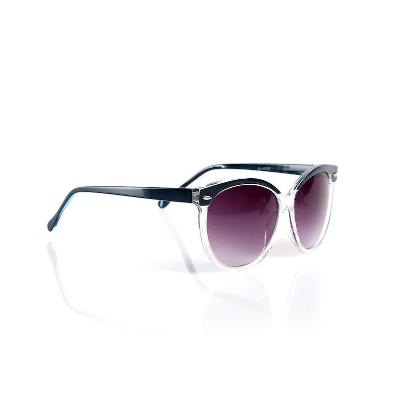 Gafas de sol maxi con montura bicolor y cristales tintados