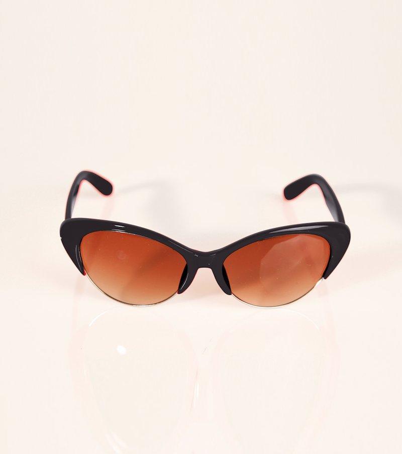 Gafas de sol mujer montura de pasta y metal - Negro