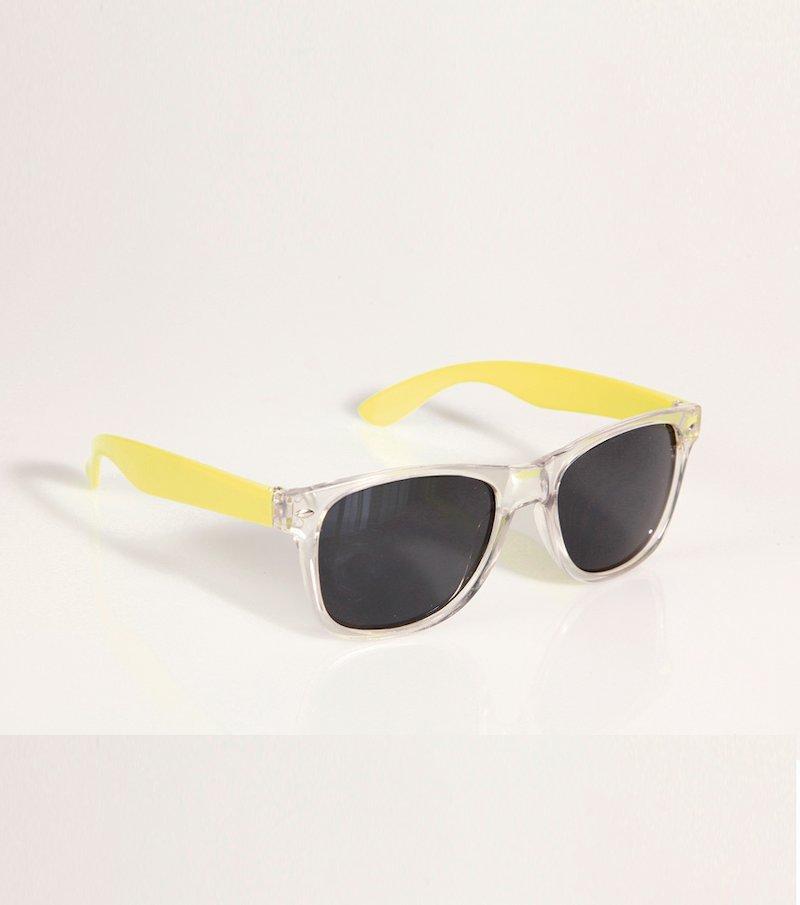 Gafas de sol mujer montura transparente y flúo