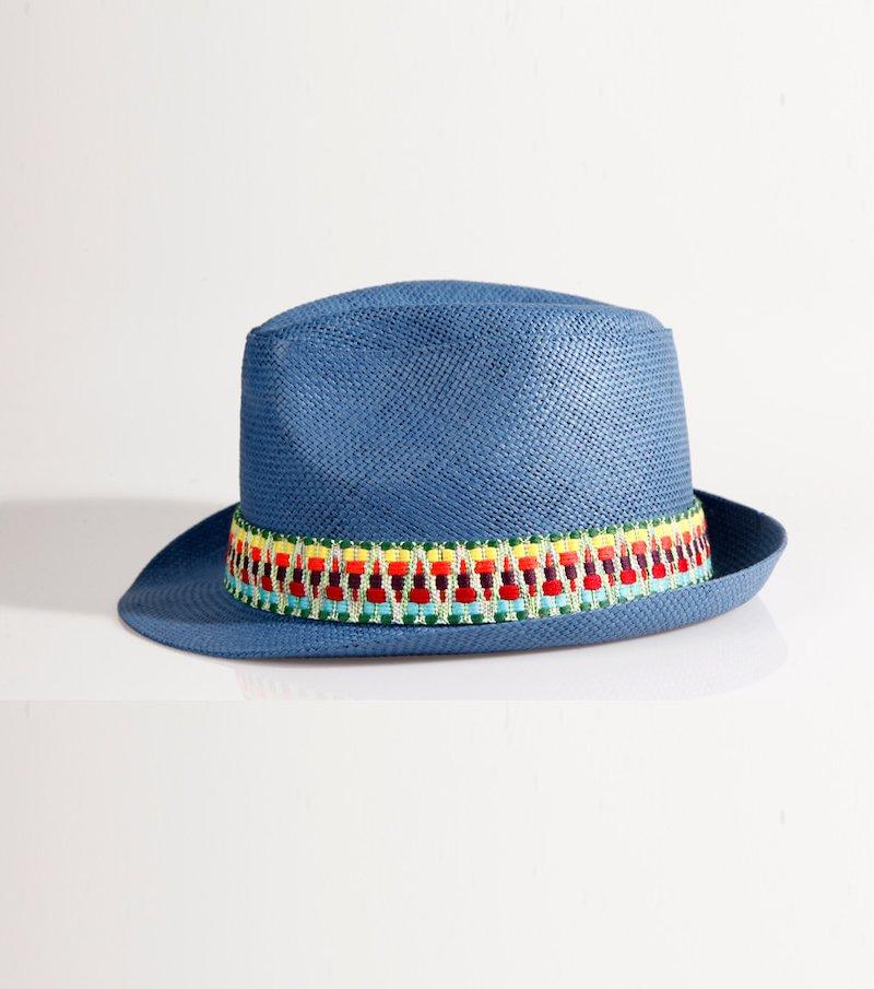 Sombrero mujer borsalino azul