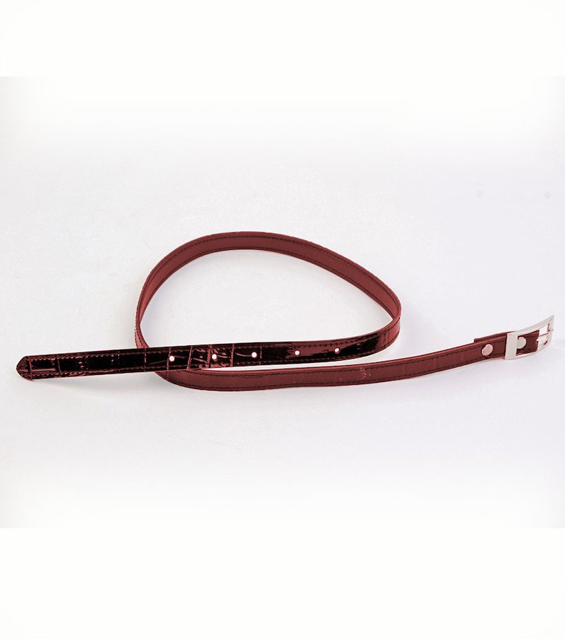 Cinturón fino mujer símil piel