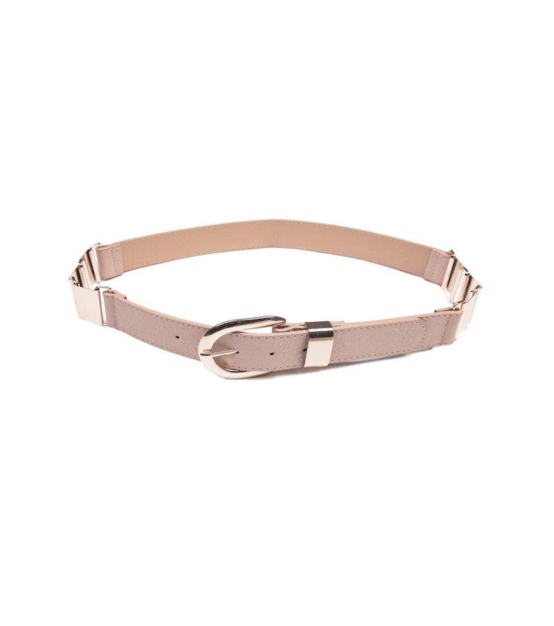Cinturón mujer símil piel con piezas metálicas