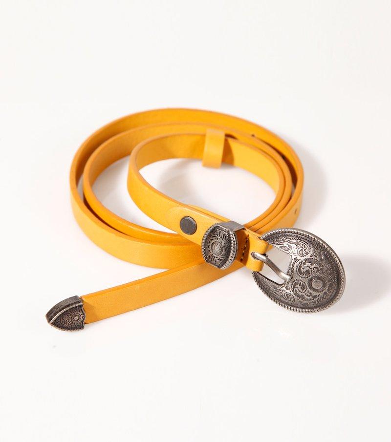 Cinturón mujer hebilla metálica