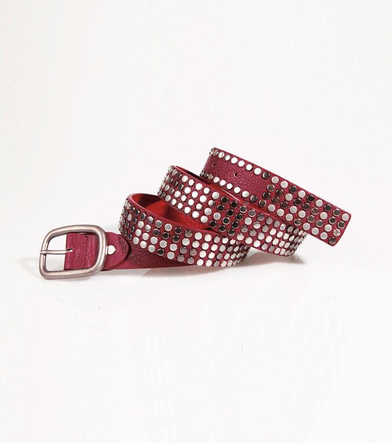 Cinturón mujer con tachuelas símil piel