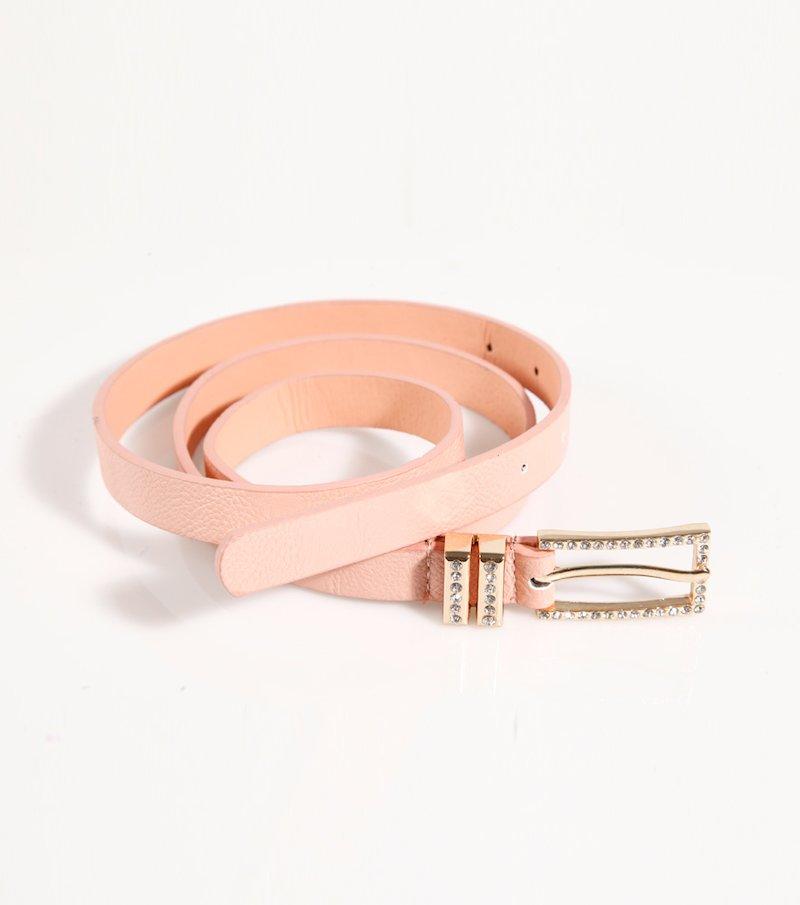 Cinturón mujer con hebilla strass
