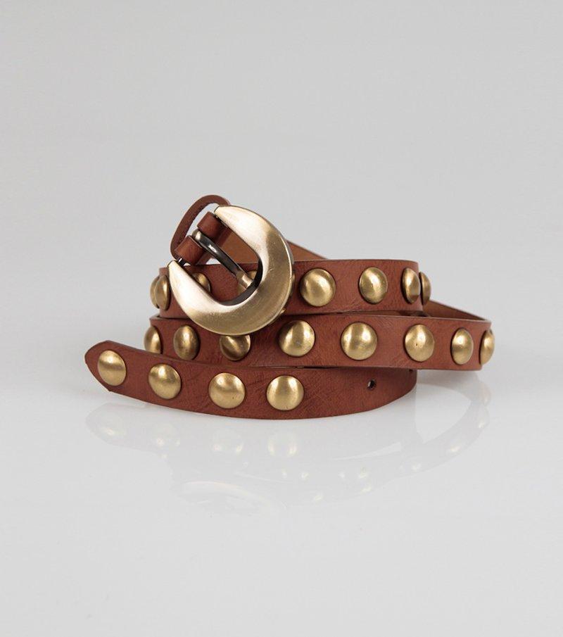 Cinturón mujer símil piel con tachuelas