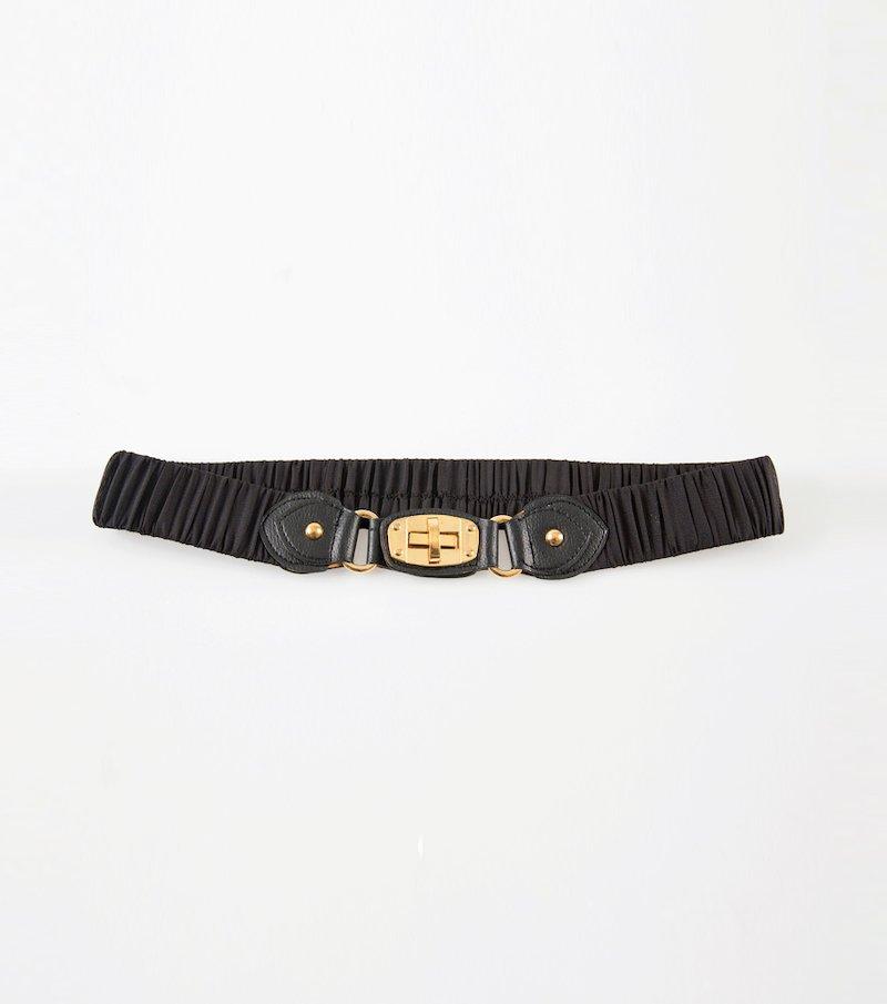 Cinturón elástico mujer negro