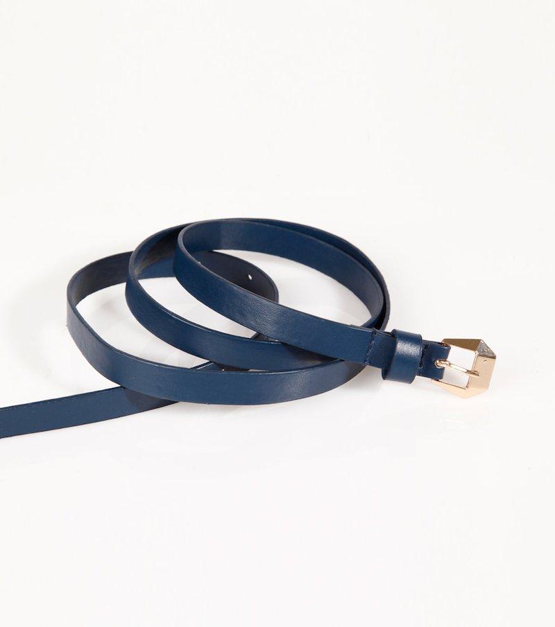 Cinturón mujer símil piel con hebilla metálica