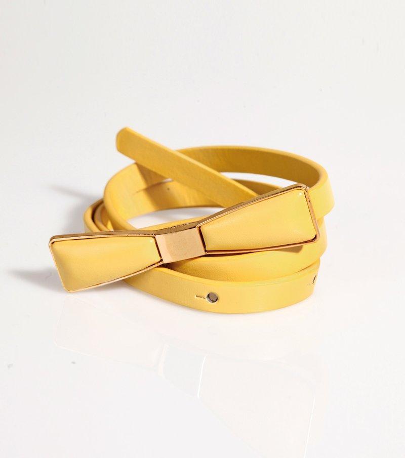 Cinturón mujer con hebilla lazo símil piel