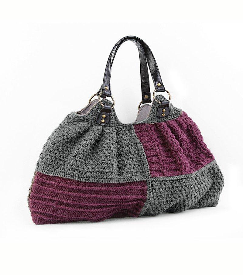 Bolso mujer tricot bicolor