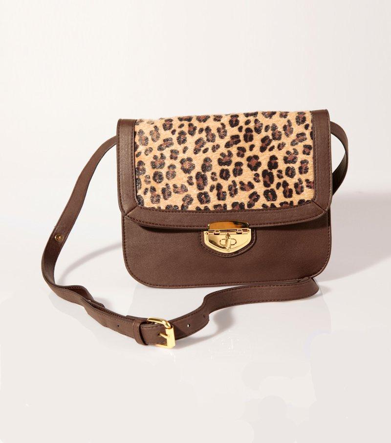 Bolso mujer símil piel con estampado leopardo