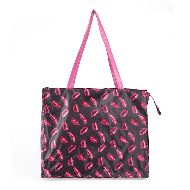 Maxi bolso de playa de labios gran capacidad