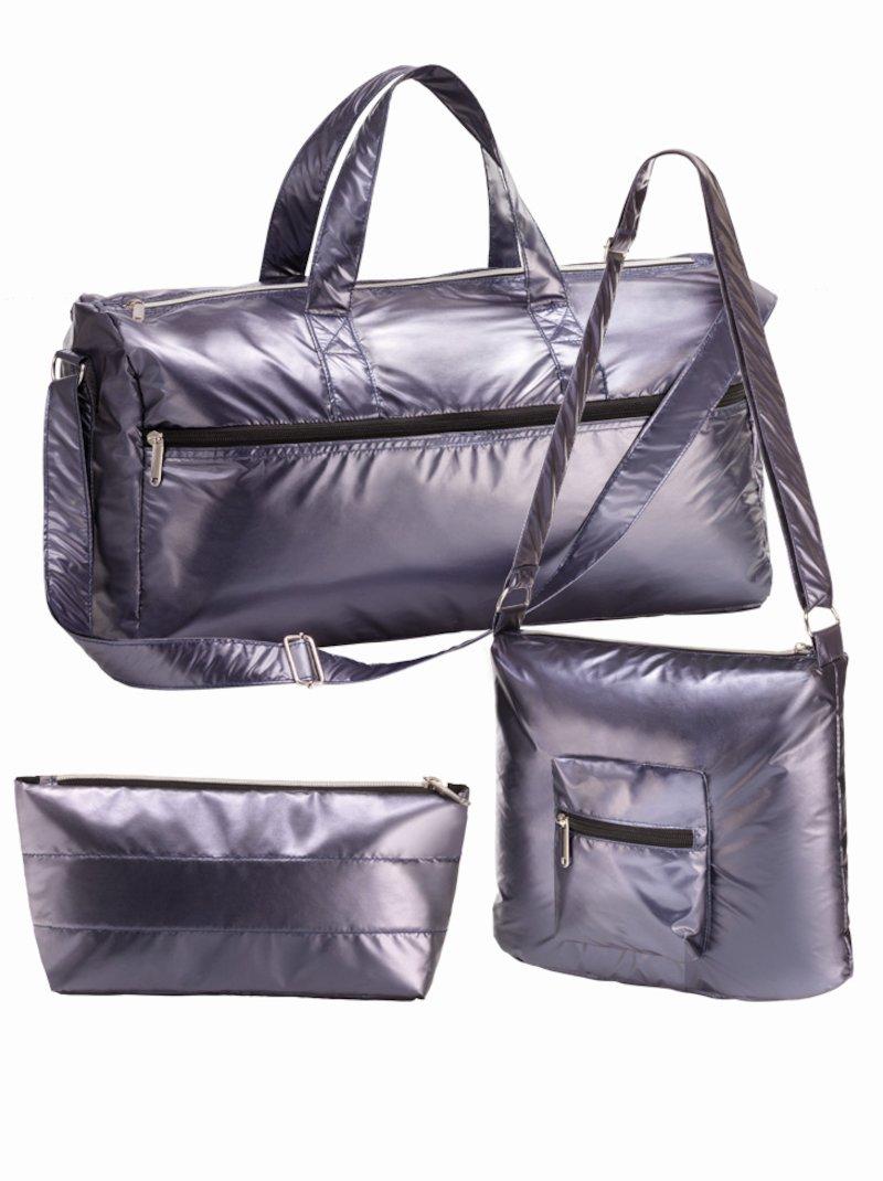Set de viaje maxibolsa bolso bandolera y neceser